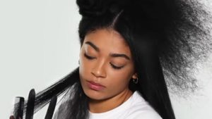 how to flat iron hair