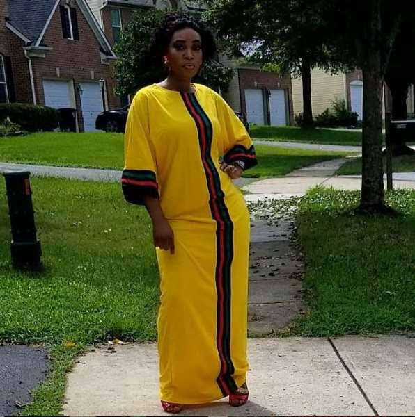 fitted african dress