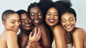 different shades of brown skin